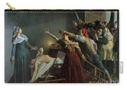 The Assassination Of Marat Carry-all Pouch by Jean Joseph Weerts