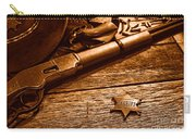 The Badge - Sepia Carry-all Pouch