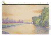 The Banks Of The Marne At Dawn 1888 Carry-all Pouch