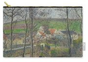 The Banks Of The Viosne At Osny In Grey Weather, Winter Carry-all Pouch
