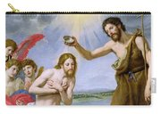 The Baptism Of Christ Carry-all Pouch by Ottavio Vannini