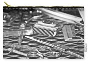 The Barber Shop 10 Bw Carry-all Pouch by Angelina Vick