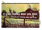 The Barn Quote Carry-all Pouch