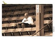 The Baseball Fan Sepia Carry-all Pouch
