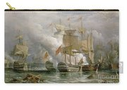 The Battle Of Cape St Vincent Carry-all Pouch by Richard Bridges Beechey