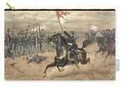 The Battle Of Cedar Creek Virginia Carry-all Pouch by Thure de Thulstrup