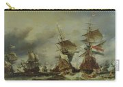 The Battle Of Texel Carry-all Pouch by Louis Eugene Gabriel Isabey