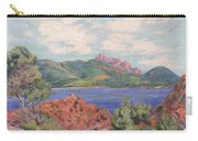 The Bay Of Agay Carry-all Pouch by Jean Baptiste Armand Guillaumin