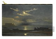 The Bay Of Naples By Moonlight With The Castel Dell'ovo Beyond Carry-all Pouch
