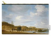 The Beach At Egmond An Zee Carry-all Pouch by Salomon van Ruysdael
