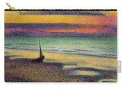 The Beach At Heist Carry-all Pouch by Georges Lemmen