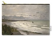 The Beach At Sainte Adresse Carry-all Pouch by Claude Monet