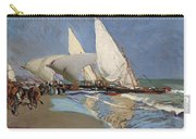 The Beach At Valencia Carry-all Pouch