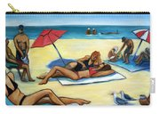 The Beach Carry-all Pouch by Valerie Vescovi