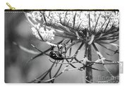 The Beetle Acrobat Black And White Carry-all Pouch
