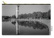 The Bell Tower Reflections B W Furman University Greenville South Carolina Art Carry-all Pouch