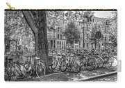 The Bicycles Of Amsterdam In Black And White Carry-all Pouch