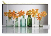 the Blooming yellow Ornithogalum Dubium in a transparent bottle instead vase Carry-all Pouch