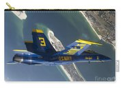 The Blue Angels Perform A Looping Carry-all Pouch by Stocktrek Images