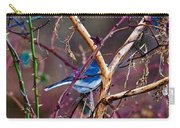 The Blue Of Winter In The Woods Carry-all Pouch