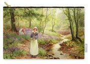 The Bluebell Glade Carry-all Pouch by Ernest Walbourn