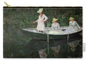 The Boat At Giverny Carry-all Pouch by Claude Monet