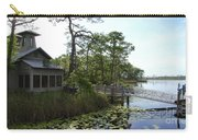 The Boathouse At Watercolor Carry-all Pouch by Megan Cohen
