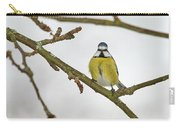 The Bold One. Eurasian Blue Tit Carry-all Pouch