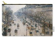 The Boulevard Montmartre On A Winter Morning, 1897  Carry-all Pouch