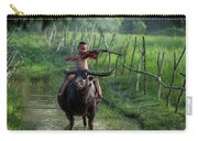 The Boy Playing The Red Violin In Thailand, Asia Carry-all Pouch