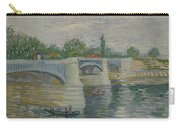 The Bridge At Courbevoie Paris, May - July 1887 Vincent Van Gogh 1853  1890 Carry-all Pouch