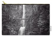 The Bridge At Multnomah Falls In Black And White Carry-all Pouch