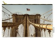 The Brooklyn Bridge Flag Carry-all Pouch