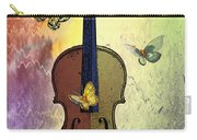 The Butterflies And The Violin Carry-all Pouch