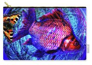 The Butterfly And The Fish Carry-all Pouch by Joseph Mosley