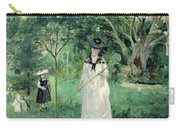 The Butterfly Hunt Carry-all Pouch by Berthe Morisot