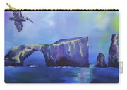 The California Brown Pelican And Acacapa Island Arch Rock Carry-all Pouch
