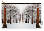 The Calm Of Winter In The Woods Carry-all Pouch