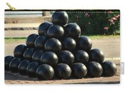 The Cannonballs At The Battery In Charleston Sc Carry-all Pouch