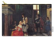 The Card Players Carry-all Pouch by  Pieter de Hooch