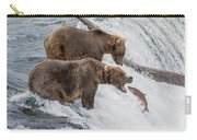The Catch - Brown Bear Vs. Salmon Carry-all Pouch