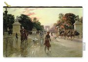 The Champs Elysees - Paris Carry-all Pouch by Georges Stein