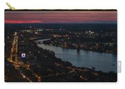 The Charles River Runs Through Boston At Sunset Boston, Ma Carry-all Pouch
