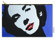 The Charming Lady In Black And White With Red Lips Carry-all Pouch
