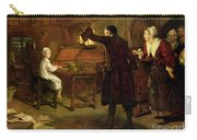 The Child Handel Discovered By His Parents Carry-all Pouch by Margaret Isabel Dicksee