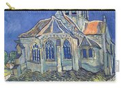 The Church At Auvers Sur Oise Carry-all Pouch by Vincent Van Gogh