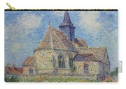 The Church At Porte-joie On The Eure By Gustave Loiseau Carry-all Pouch