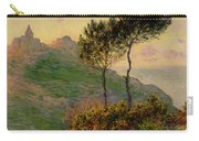 The Church At Varengeville Against The Sunlight Carry-all Pouch by Claude Monet