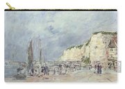 The Cliffs At Dieppe And The Petit Paris Carry-all Pouch by Eugene Louis Boudin