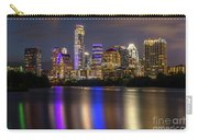 The Colorful Neon Lights On The Austin Skyline Shine Bright Carry-all Pouch